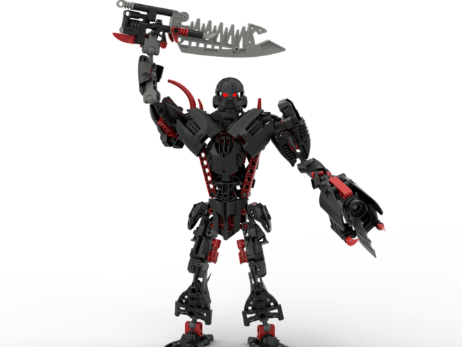 Makuta Marine with chainsword and bolter