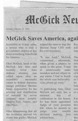 McGick saves America