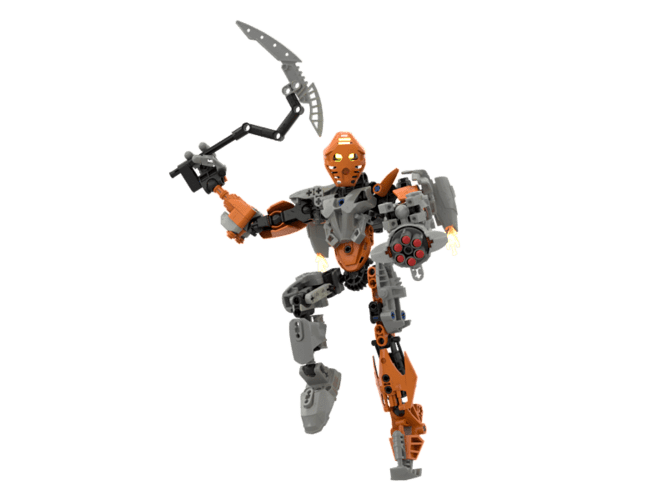 Vectus, Toa of Iron (rendered jumping)