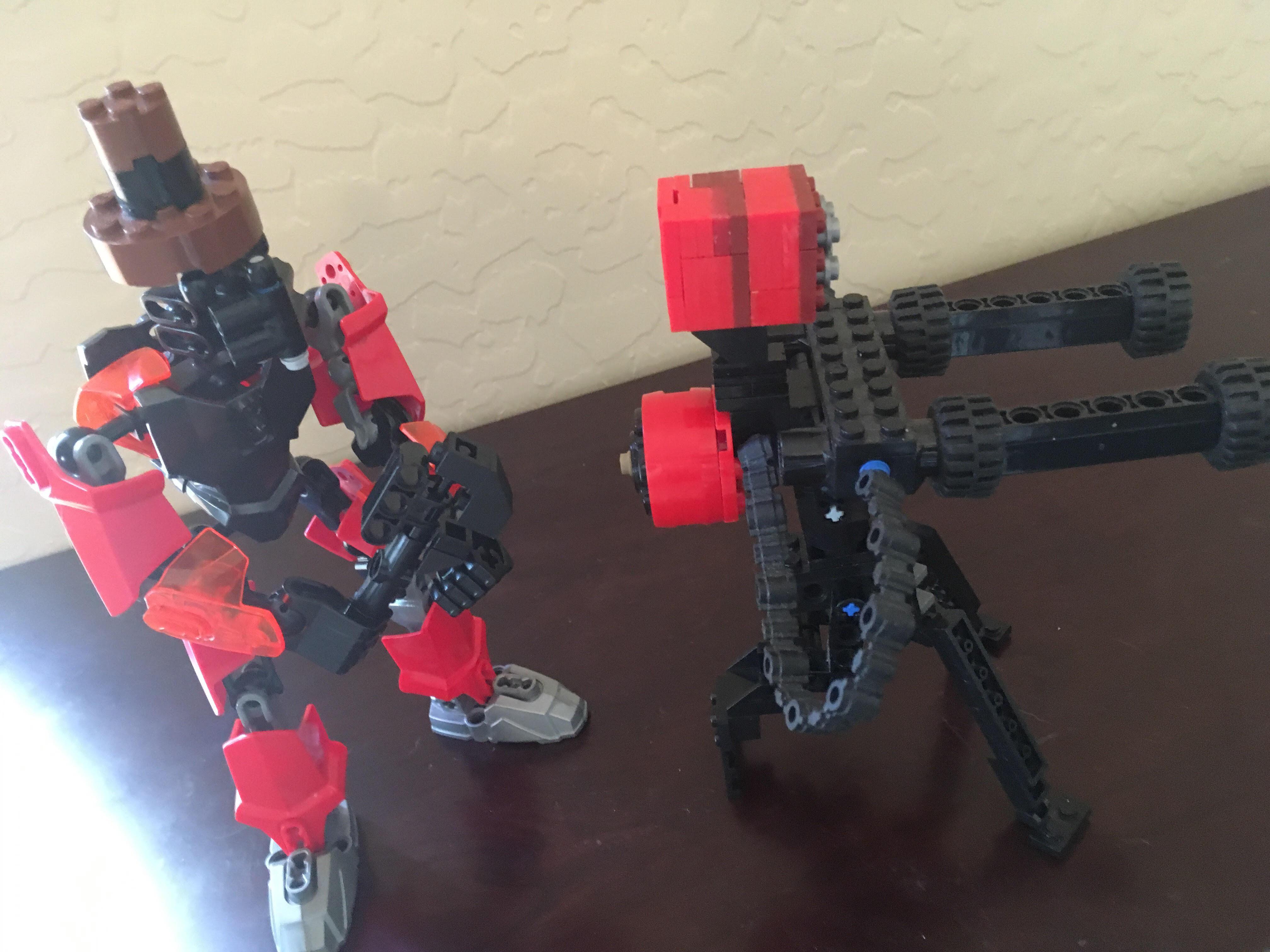 The sentry-gun/ mini-sentry and the wrench/gunslinger from